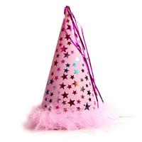 별무늬 고깔모자(소)-핑크/행사,파티용품