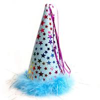 별무늬 고깔모자(소)-블루/행사,파티용품