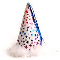 별무늬 고깔모자(소)-화이트/행사,파티용품