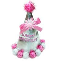 방울달린 고깔(핑크)/행사,파티용품