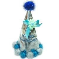 방울달린 고깔(블루)/행사,파티용품