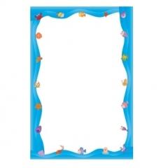 칼라빈상장(A4)파랑-50매/학원,유치원용품