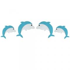 펠트 돌고래 세트/환경구성재료
