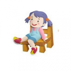 종이-의자에 앉은아이/환경구성재료