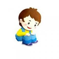 종이-앉아있는아이/환경구성재료