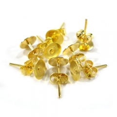 철재귀고리(6mm)/금색/장식공예재료