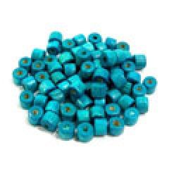나무비즈/원통(5x4mm)파랑/비즈공예재료