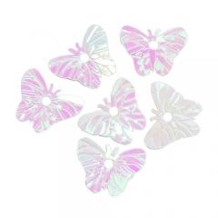 레인보우스팡클(1홀)/나비 흰색/만들기공예재료