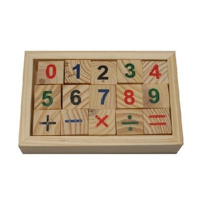 나무블럭/숫자15p/유아학습재료