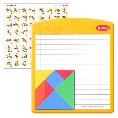 양면자석칠교/학습교구,퍼즐>유아학습퍼즐