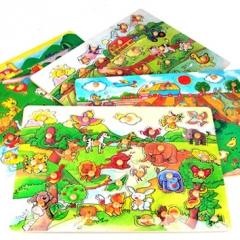 대형원목퍼즐(야생동물)/학습교구,퍼즐>유아학습퍼즐