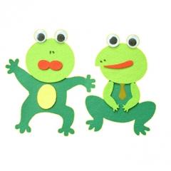 펠트 개구리 B세트/환경구성재료