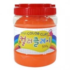 컬러클레이 /500g 주황/점토공예재료