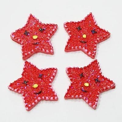 팬던트/미소별 빨강(20개)/장식공예,만들기재료