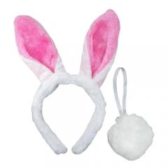토끼머리띠+꼬리/행사,파티용품