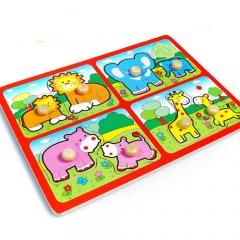 꼭지퍼즐(동물)2/학습교구,퍼즐>유아학습퍼즐