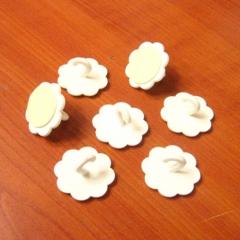 마운트(고리형)/꽃(흰색)70개/만들기장식공예