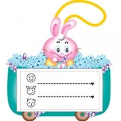 끼움식명찰/토끼(10개)/학원,유치원용품