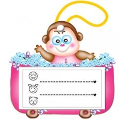 끼움식명찰/원숭이(10개)/학원,유치원용품