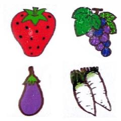 과일도장세트/12p/학원,유치원용품