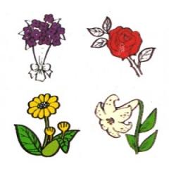 식물도장세트/12p/학원,유치원용품