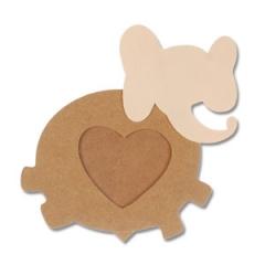 코끼리 사진액자/점토프레임,만들기재료
