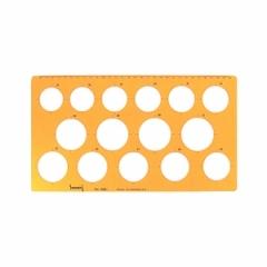 No.1061 템플릿 원형정규/전산,제도용품