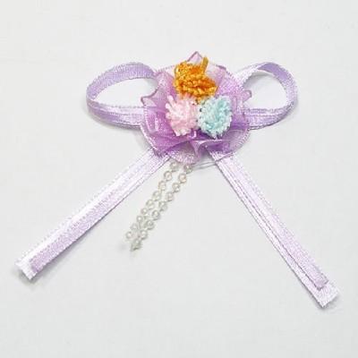 봉제소품/부케 보라.10개/장식공예,만들기재료