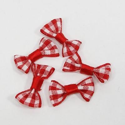 타이리본50p(체크)/ 빨강/장식공예,만들기재료