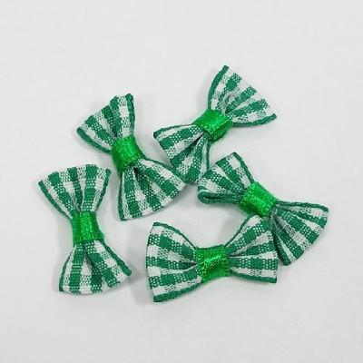 타이리본50p(체크)/ 초록/장식공예,만들기재료