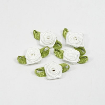 장미리본/ 흰색/장식공예,만들기재료