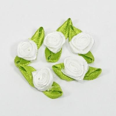 장미리본(8p) 흰색/장식공예,만들기재료