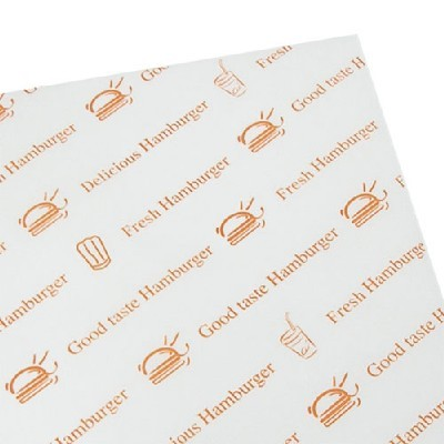 햄버거포장지/오렌지(50p)/장식공예,포장재료
