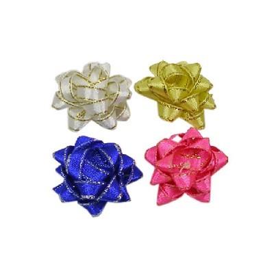 리본꽃/금사3cm 6개/장식공예,만들기재료