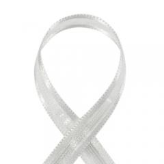 오간디/공단테두리 7mm*25Y(흰색)/리본공예재료