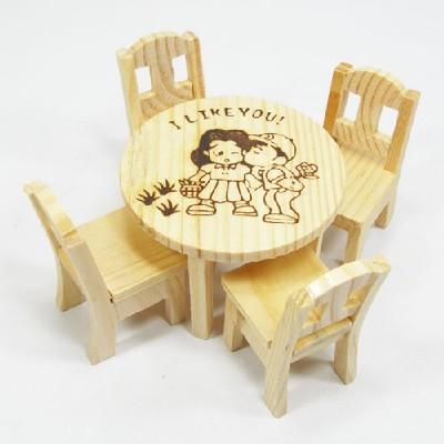 미니어쳐/테이블+의자/점토,만들기재료