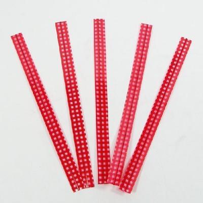 PET체크타이/빨강(50p)/장식공예재료