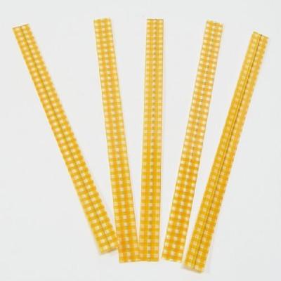 PET체크타이/노랑(50p)/장식공예재료