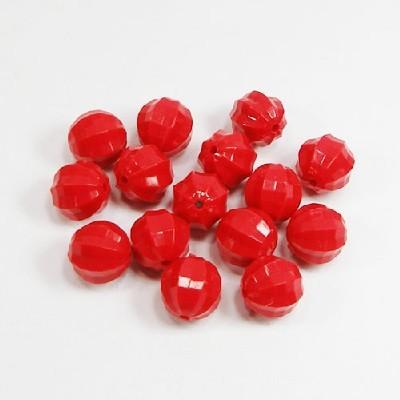 각원형 원색구슬(12mm)/빨강/비즈공예재료