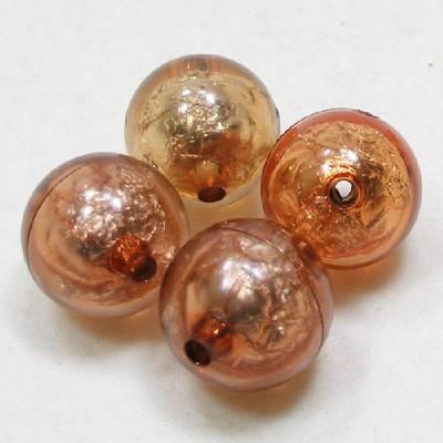 앤틱은박구슬(20mm)/갈색/비즈공예재료