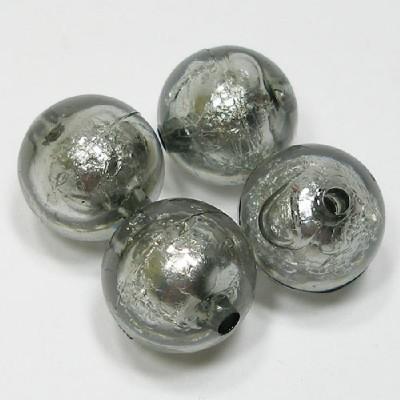 앤틱은박구슬(20mm)/진회색/비즈공예재료
