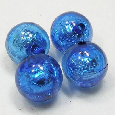앤틱은박구슬(20mm)/파랑/비즈공예재료