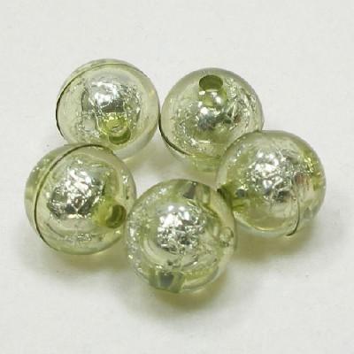 앤틱은박구슬(15mm)/초록/비즈공예재료
