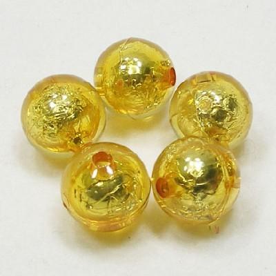 앤틱은박구슬(15mm)/노랑/비즈공예재료