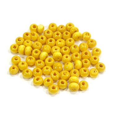 나무비즈/씨드(4mm)노랑/비즈공예재료