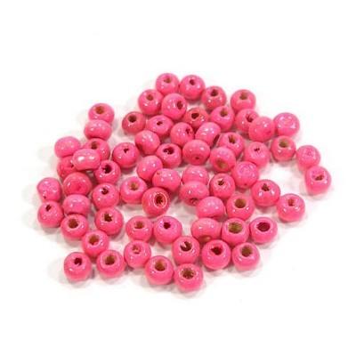나무비즈/씨드(4mm)분홍/비즈공예재료
