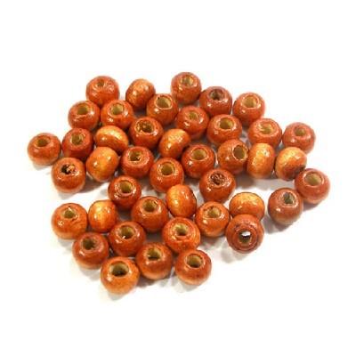 나무비즈/씨드(5mm)오렌지/비즈공예재료