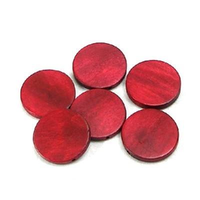 나무비즈/원형판(30mm)빨강/비즈공예재료