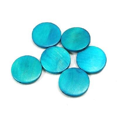 나무비즈/원형판(30mm)파랑/비즈공예재료