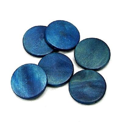 나무비즈/원형판(30mm)청색/비즈공예재료